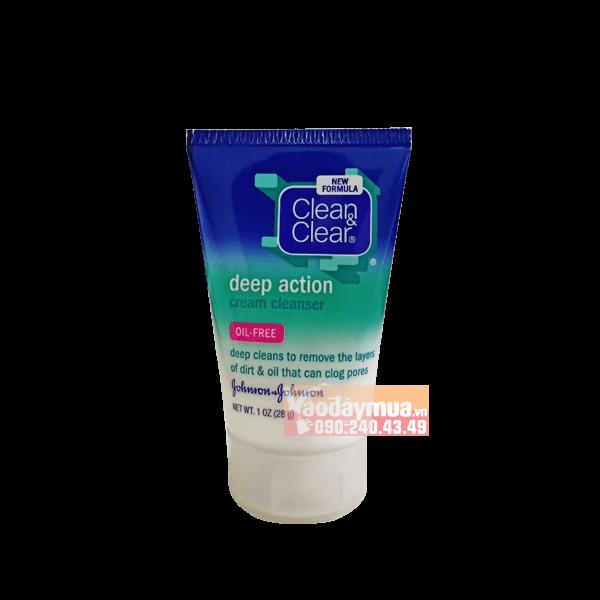 Hình ảnh tổng thể củaSữa rửa mặt kiểm soát chất nhờn và làm sạch sâu Clean & Clear Deep Action Oil – Free