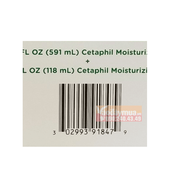 Check mã vạch trước khi sử dụngSet sữa dưỡng ẩm Cetaphil Moisturizing Lotion Mỹ