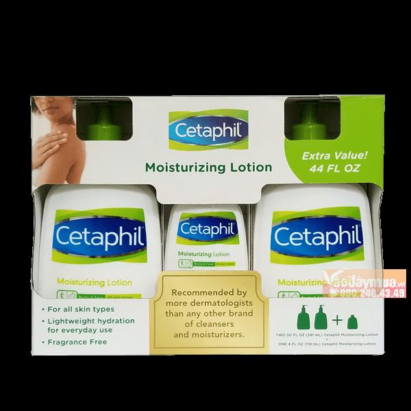 Hình ảnh tổng thể của Set sữa dưỡng ẩm Cetaphil Moisturizing Lotion Mỹ