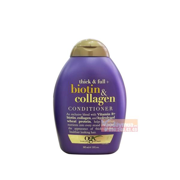 Hình ảnh tổng thể của Dầu xả Kích thích mọc tóc OGX Thick & Full Biotin & Collagen