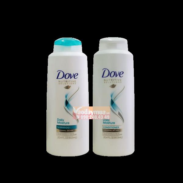 Hình ảnh tổng thể bộ dầu gội xả Dove phục hồi tóc hư tổn 603ml của Mỹ
