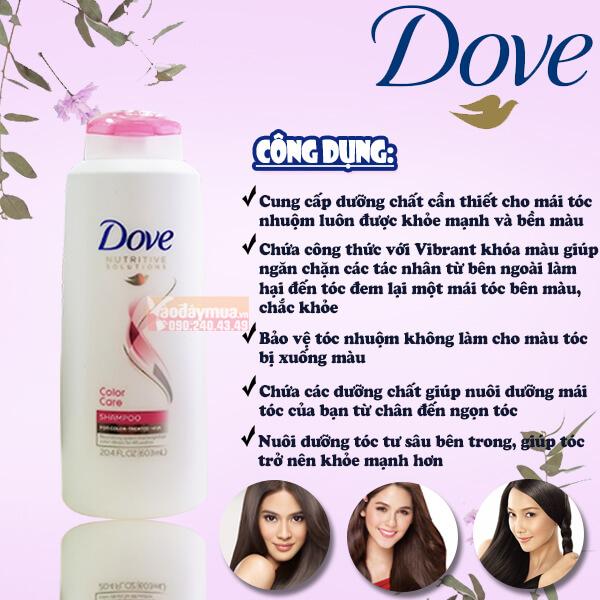 Công dụng chính của dầu gội Dove Color Care