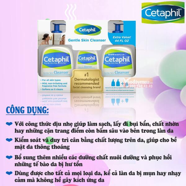 Set sữa rửa mặt Cetaphil Gentle Skin Cleanser Mỹ