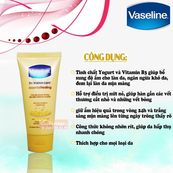 Công dụng từ Sữa dưỡng thể Vaseline của Mỹ