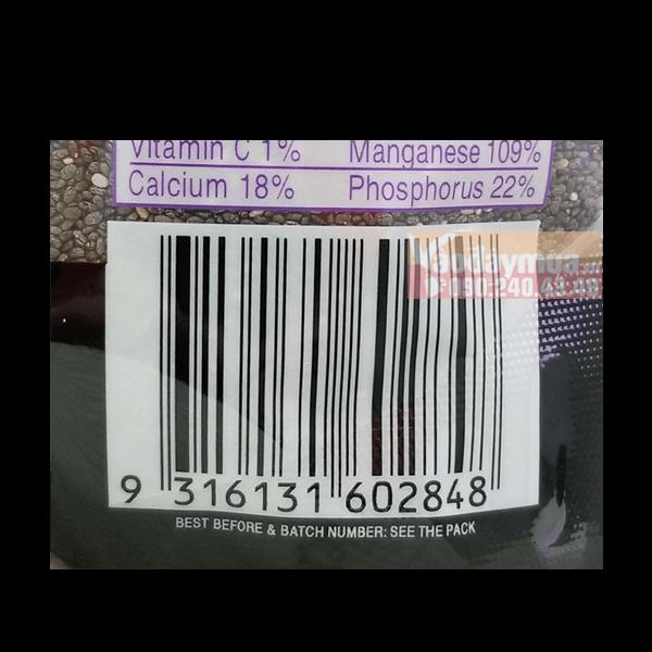 Check mã vạchcủa hạt chia Seed Organic Úc trước khi mua
