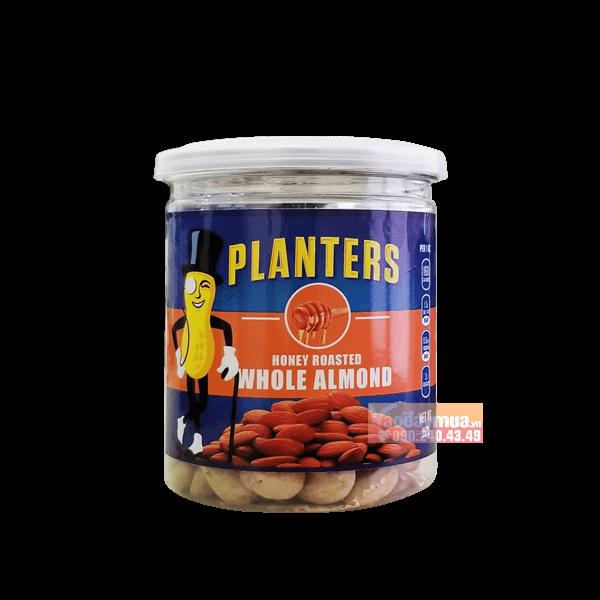 Hình ảnh tổng thể hạnh nhân tẩm mùi vị tổng hợp Planters Whole Almond của Mỹ