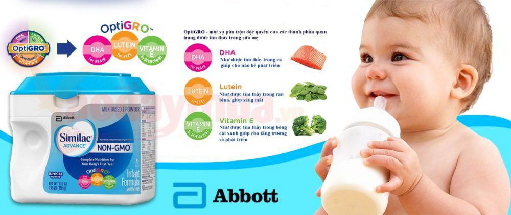 Nguồn dinh dưỡng đặc biệt từ sữa Similac Advanced dành cho bé từ 0 -12 tháng