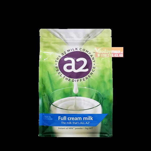 Hình ảnh tổng thể sữa tươi nguyên kem A2 của Úc