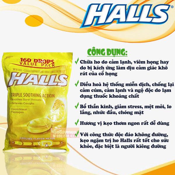 Công dụng mà bạn nên sử dụng kẹo trị ho Halls