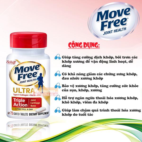 Công dụng của viên uống giảm đau khớp cực mạnh Schiff Move Free Ultra