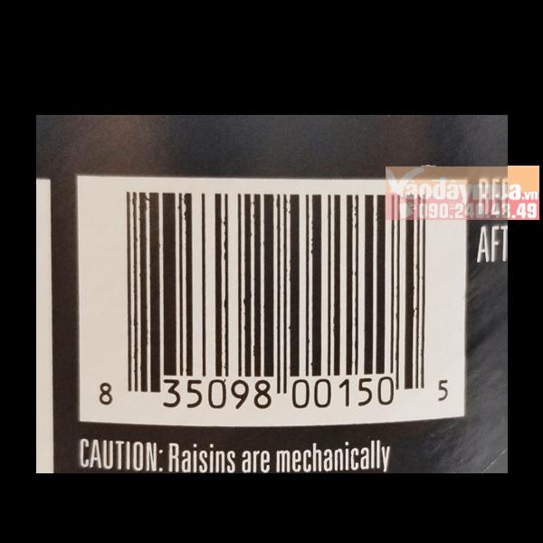Nên check mã vạch trước khi mua nho khô của Mỹ đảm bảo an toàn