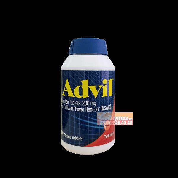 Hình ảnh tổng thể của thuốc giảm đau nhức Advil của mỹ