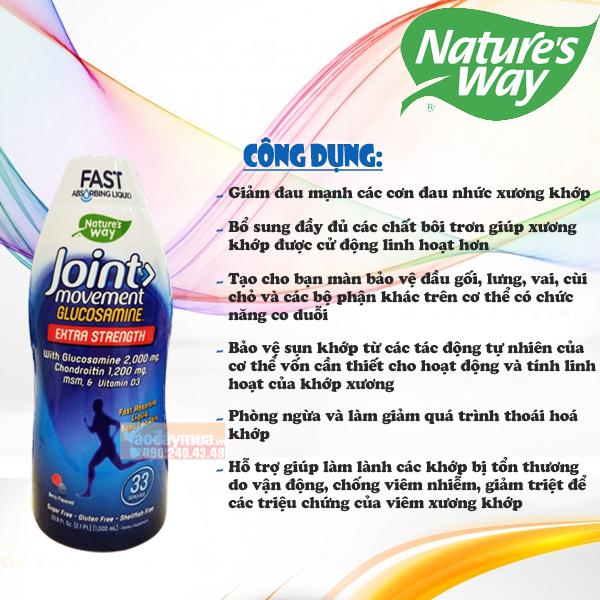 Công dụng của Nước uống bổ khớp Nature's Way Joint Movement Mỹ