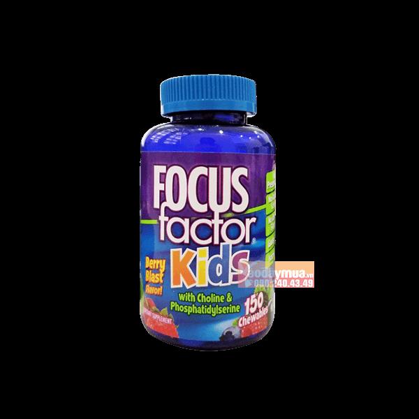 Hình ảnh tổng thể của kẹo dẻo bổ não cho trẻ Focus Factor Kids 150 viên của Mỹ