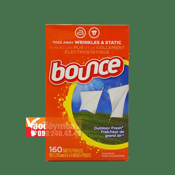 Hình ảnh thật của giấy thơm quần áo Bounce của Mỹ tại vaodaymua.vn