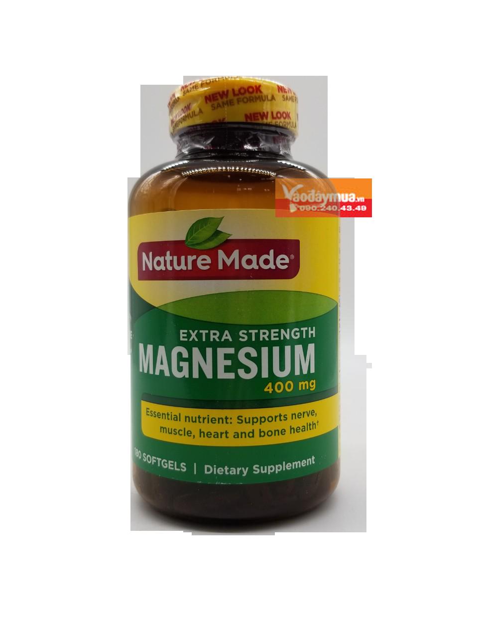 Hình ảnh tổng thể của viên uốngMagie Nature Made Magnesium 400mg Mỹ tại Vaodaymua.vn
